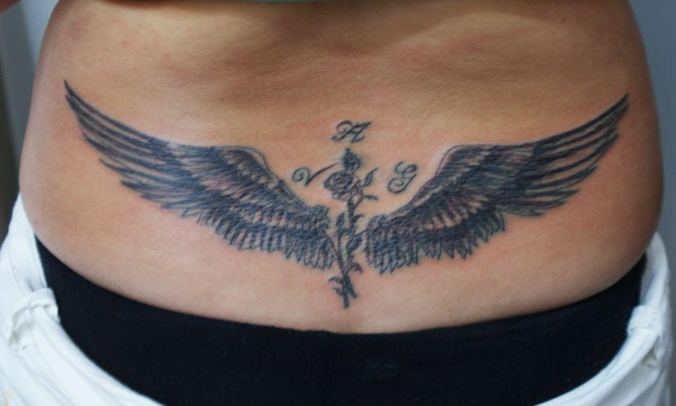 Tatouage Aile Dange Bas Du Dos Tatouage D Ange