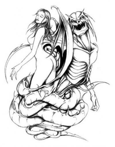 Tattoo volution serge tatoueur pierceur depuis plus - Modele dessin dragon ...